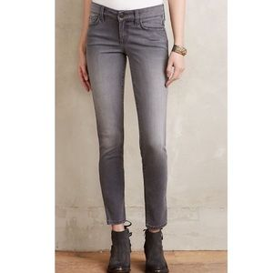 Level 99 Lily straight crop grey jeans